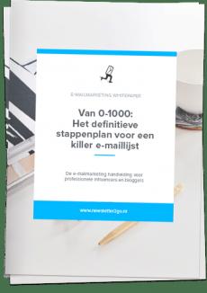 Whitepaper stappenplan killer e-maillijst cover