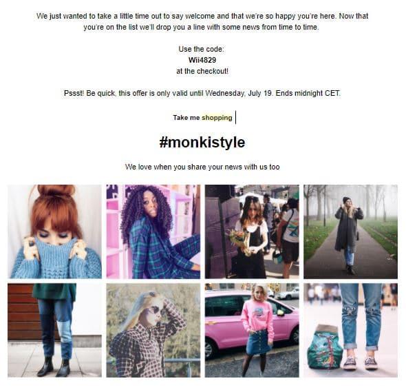 Monki product newsletter