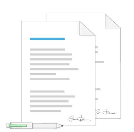 Handtekening formulier