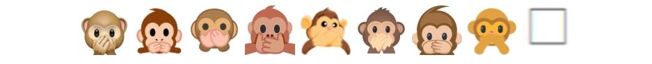 Emoji apen weergave