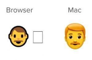 Emoji man met rode haren