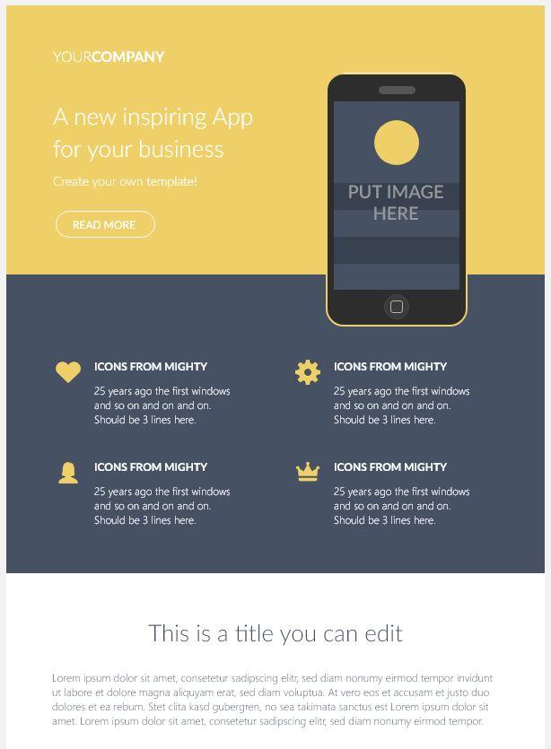 Nieuwsbrief template mobiel