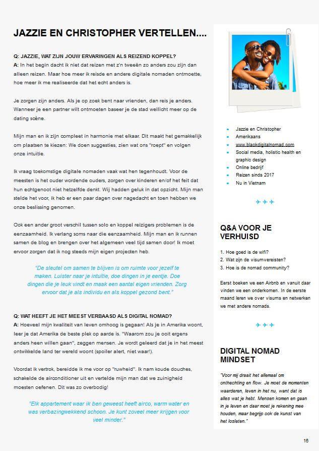 Digital Nomad magazine interview